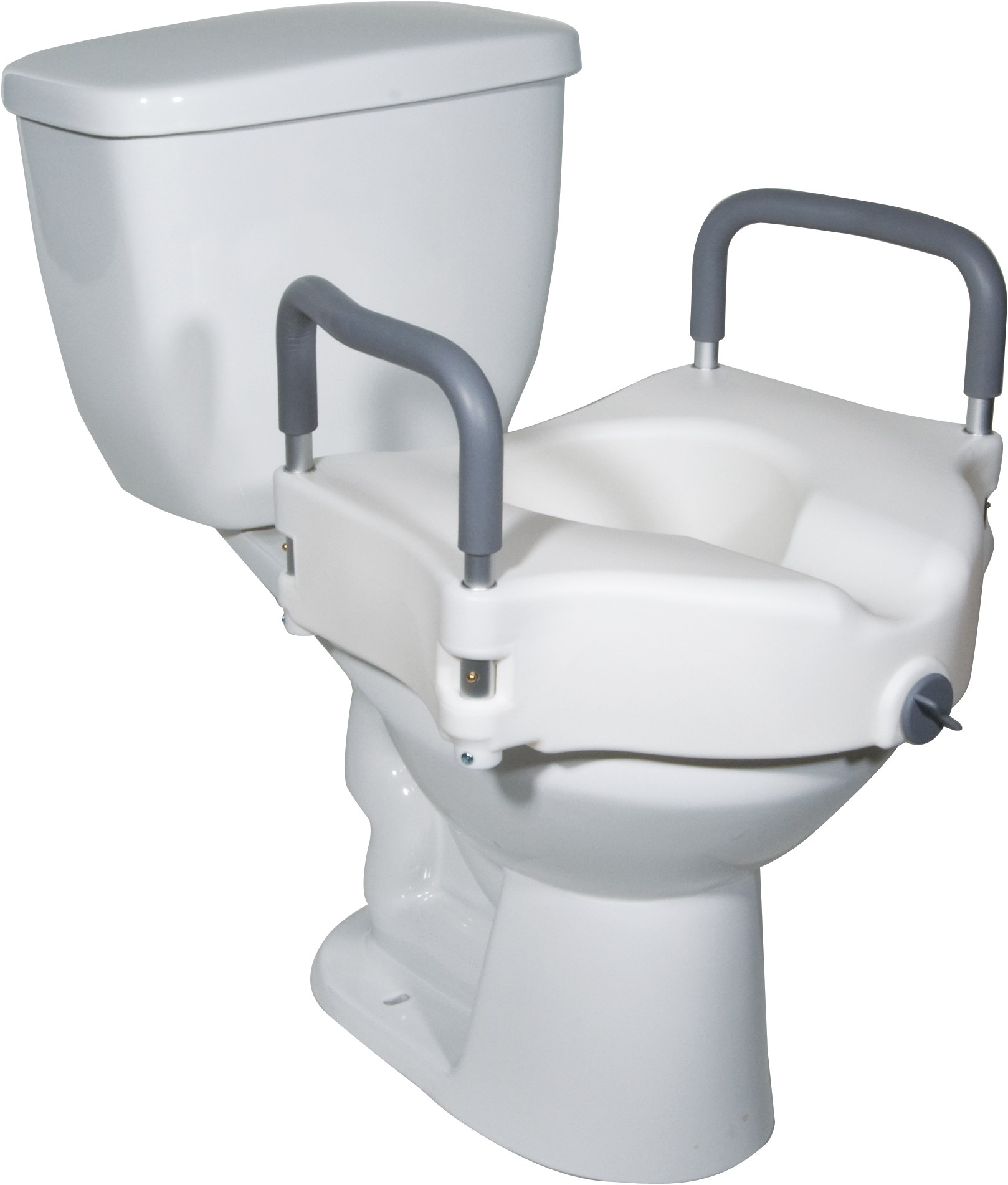 """5""""Elevated Toilet Seat with Removable padded arms"""